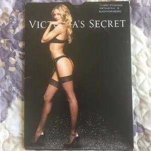 Victoria's Secret Black Noir Classic Stockings, A